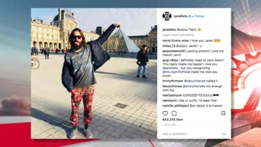 Jared Leto a Louvre-ban